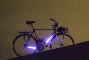 Fiets met ccfl verlichting