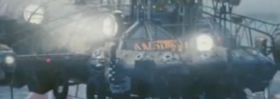 Tears of Steel - The air ship's rear end reads 'Amsterdam'