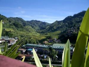 Uitzicht vanuit de Sanafe Lodge om kwart voor acht 's ochtends