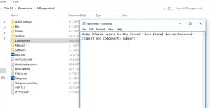 Ok, het is niet zo dat je nooit last hebt met Linux, maar als je de hardware goed kiest, dan staat dit dus in de LinuxDrivers-directory :)
