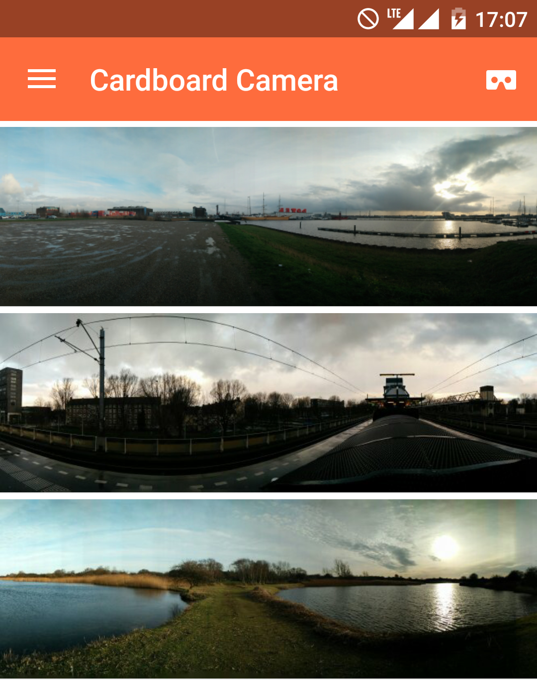 Google Cardboard VR Photo's of unusual places