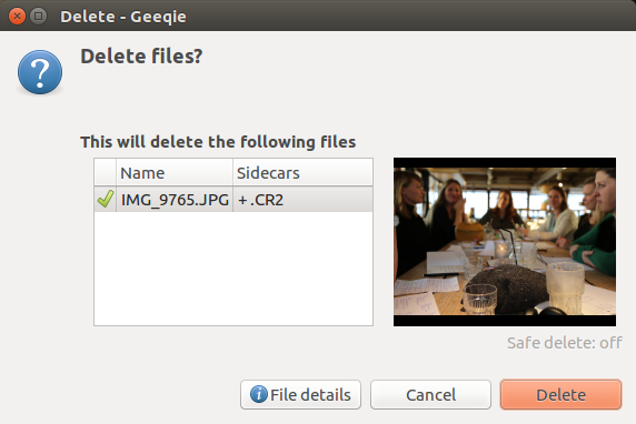 Raw- en jpg-bestanden simpel samen verwijderen in Ubuntu: Geeqie